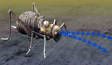 Lightwave insect model